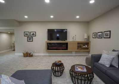 115 Ranchview Custom Home Basement by Mulder Builders