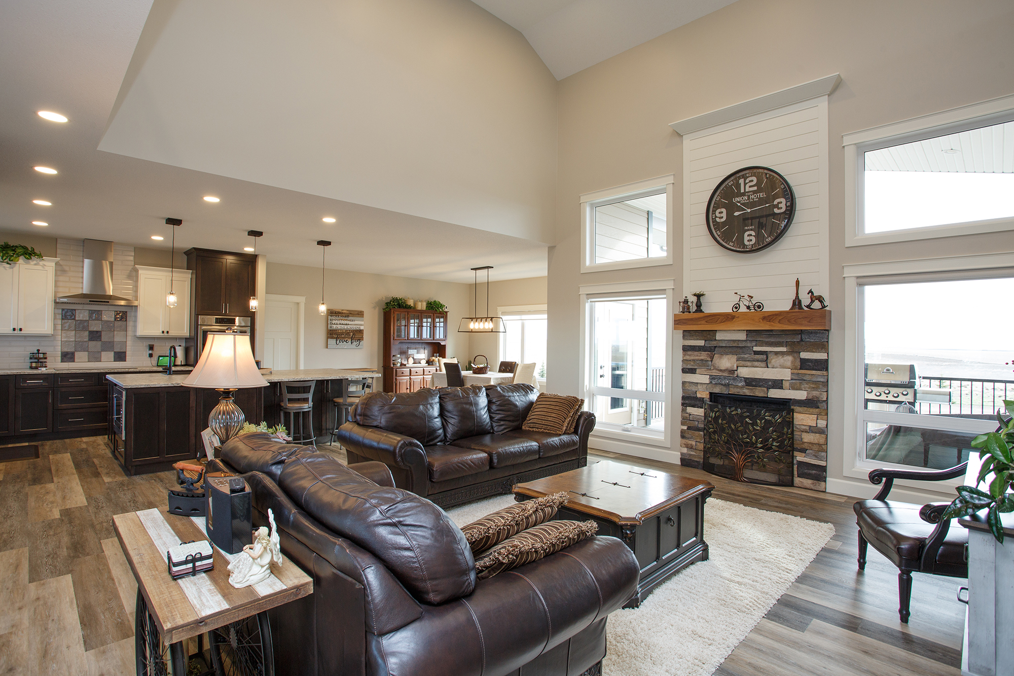 Redcliff Pancoast Custom Home Great Room by Mulder Builders